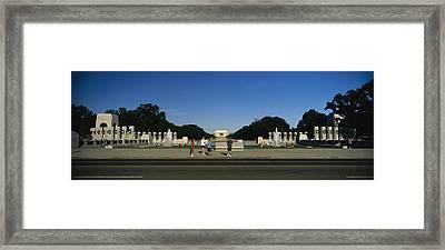 Memorial Plaza Of The World War II Framed Print