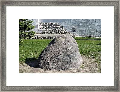 Memorial Stone Of Twin Cities Framed Print by Evgeny Pisarev