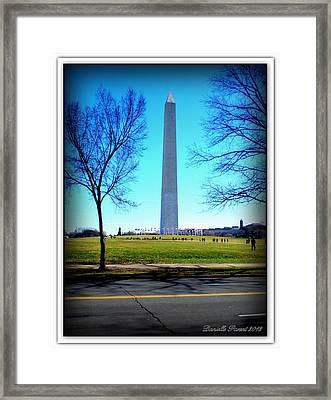 Framed Print featuring the photograph Memorials Washington  D.c. by Danielle  Parent
