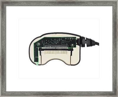 Memory Card Reader Framed Print by Mark Sykes