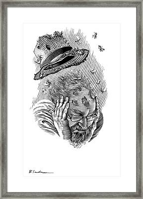 Memory Moths, Conceptual Artwork Framed Print by Bill Sanderson