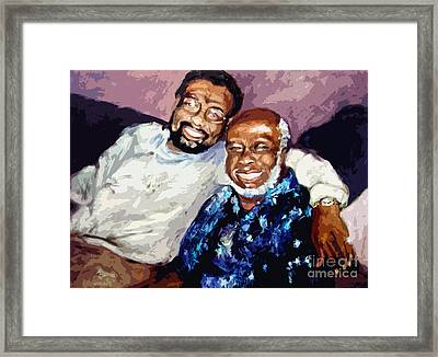 Memphis Soul Music William Bell And Rufus Thomas Framed Print by Ginette Callaway