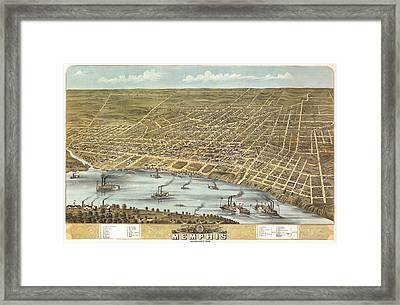 Memphis Tennessee 1870 Framed Print by Donna Leach