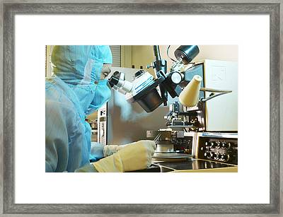Mems Production, External Connections Framed Print by Colin Cuthbert