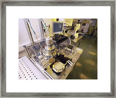 Mems Production, Hot Embossing Framed Print by Colin Cuthbert