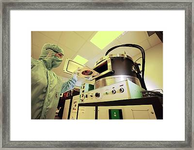 Mems Production, Thin Film Deposition Framed Print by Colin Cuthbert