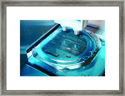 Mems Production, Wafer Cutting Framed Print by Colin Cuthbert