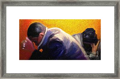 Framed Print featuring the painting Men Do Pray by Vannetta Ferguson