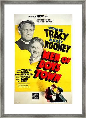 Men Of Boys Town, Spencer Tracy, Mickey Framed Print