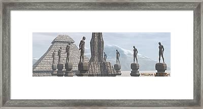 Men Of Stone Framed Print