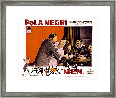Men, Pola Negri, 1924 Framed Print by Everett