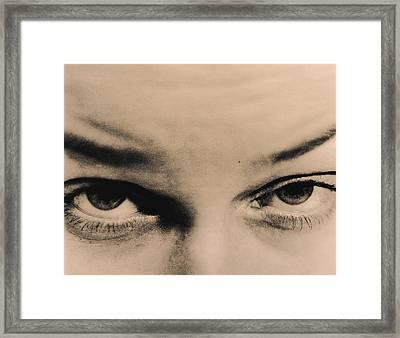 Menacing Eyes Framed Print
