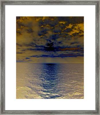 Menacing Seas Framed Print