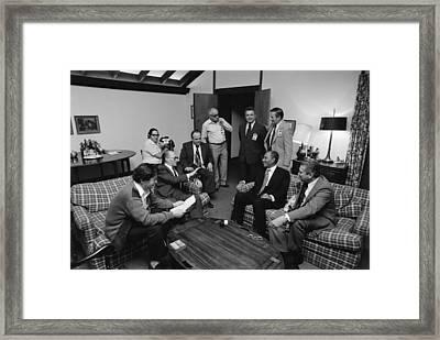 Menahem Begin And Anwar Sadat Framed Print by Everett