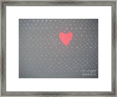Mending The Holes In My Heart Framed Print by Jeannie Atwater Jordan Allen