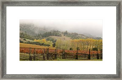 Mendocino In Autumn Framed Print by Denice Breaux
