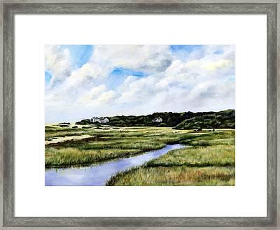Menemsha Marsh Framed Print by Paul Gardner
