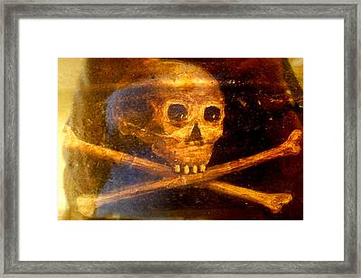 Menendez Coffin Skull Framed Print by Warren Clark