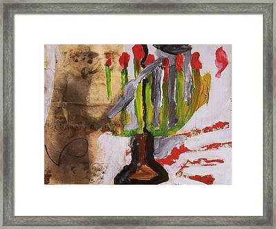 Menorah Framed Print by Iris Gill