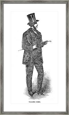 Mens Fashion, 1850 Framed Print