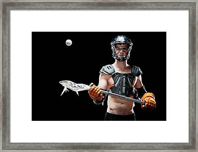 Mens Lacrosse  Framed Print by Jim Boardman