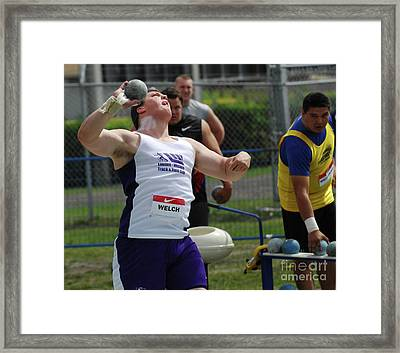 Mens Shotput Framed Print by Bob Christopher