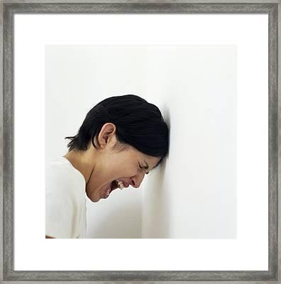 Mental Breakdown Framed Print by Cristina Pedrazzini
