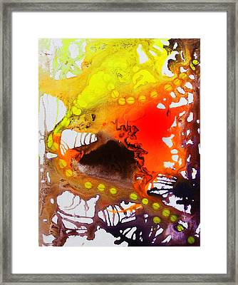 Framed Print featuring the painting Meny Many Legs by Lolita Bronzini