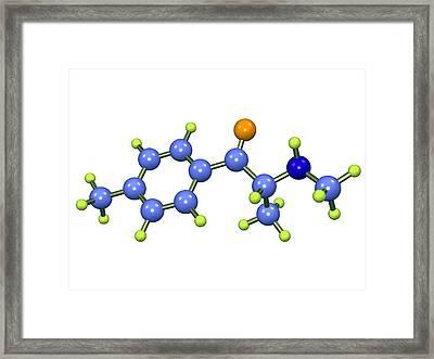 Mephedrone Molecule Framed Print by Dr Mark J. Winter