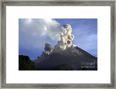 Merapi Eruption, Java Island, Indonesia Framed Print by Martin Rietze