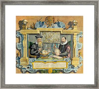 Mercator And Hondius Framed Print by Science Source