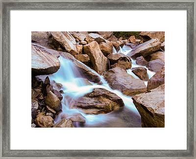 Merced Cascades Framed Print by Adam Pender