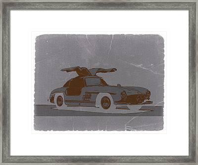 Mercedes Benz 300 Framed Print by Naxart Studio