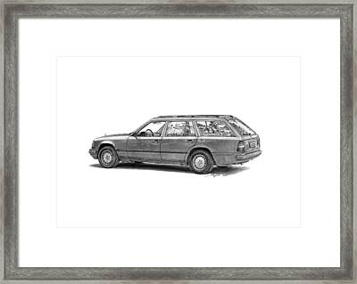 Mercedes-benz E-class Wagon Framed Print by Gabor Vida