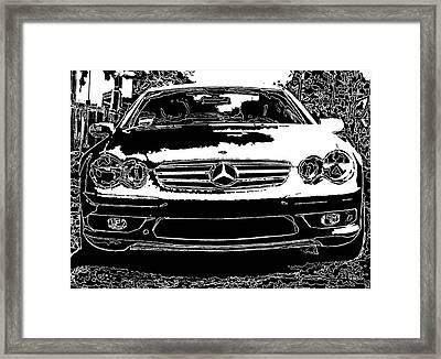 Mercedes Benz Sl 500 Framed Print by Samuel Sheats