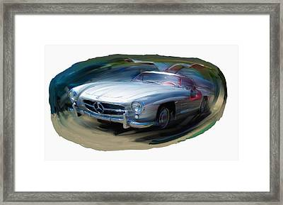 Mercedes Gullwing Framed Print by RG McMahon
