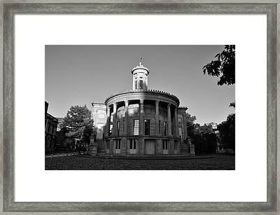 Merchant Exchange Building - Philadelphia In Black And White Framed Print by Bill Cannon