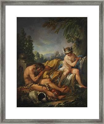 Mercury And Argus Framed Print by Charles Andre van Loo