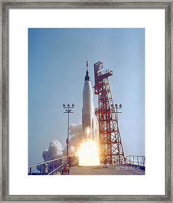 Mercury-atlas 9 Lifts Framed Print by Stocktrek Images