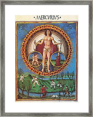 Mercury Rules Virgo Framed Print by Photo Researchers