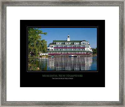 Meredith Inn Framed Print by Jim McDonald Photography