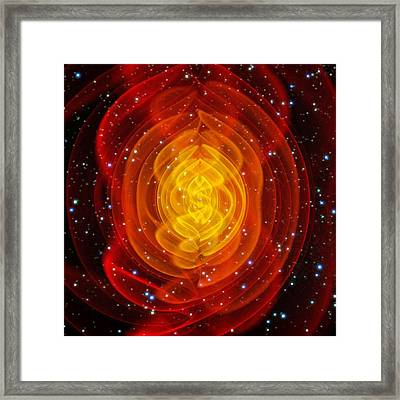 Merged Black Holes Framed Print by Chris Henzenasa