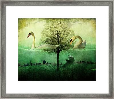 Merging Worlds Framed Print