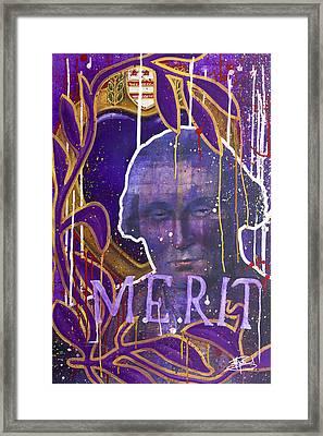 Merit Of Heart Framed Print by Michael Figueroa