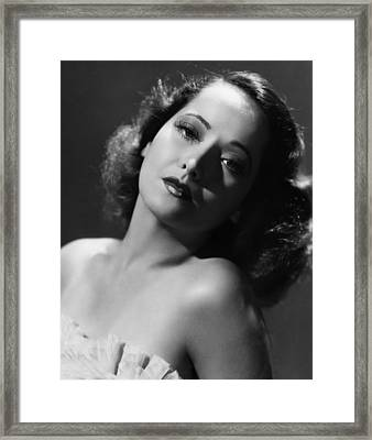 Merle Oberon, Ca. 1930s Framed Print by Everett