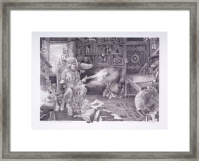 Merlin And The Owl Framed Print