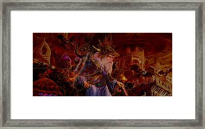 Framed Print featuring the painting Merlin At Hells Gate by Steve Roberts