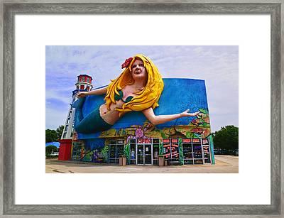 Mermaid Building Framed Print by Garry Gay