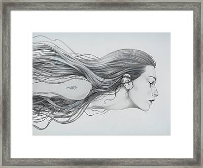 Mermaid Framed Print by Diego Fernandez