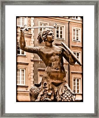 Warsaw, Poland - Mermaid Framed Print